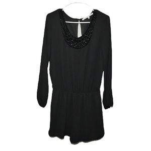 Collective Concepts  Romper w Jeweled Neck M